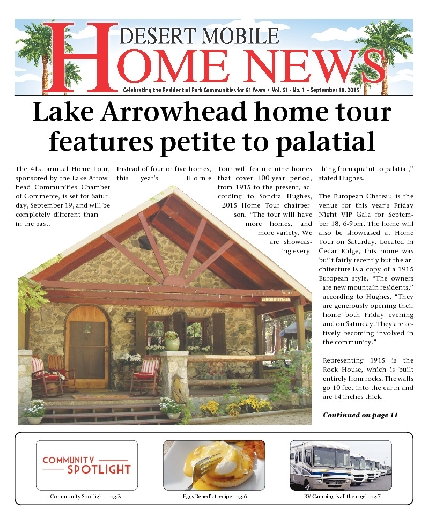 September 10, 2015 Desert Mobile Home News