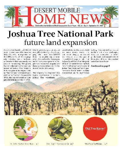 September 17, 2015 Desert Mobile Home News