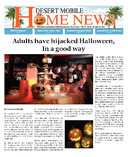 October 29, 2015 Desert Mobile Home News