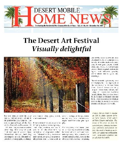 December 10, 2015 Desert Mobile Home News