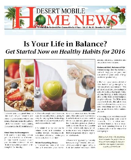 December 24, 2015 Desert Mobile Home News