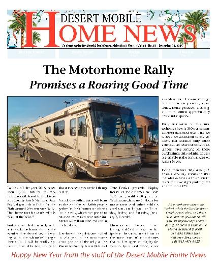 December 31, 2015 Desert Mobile Home News