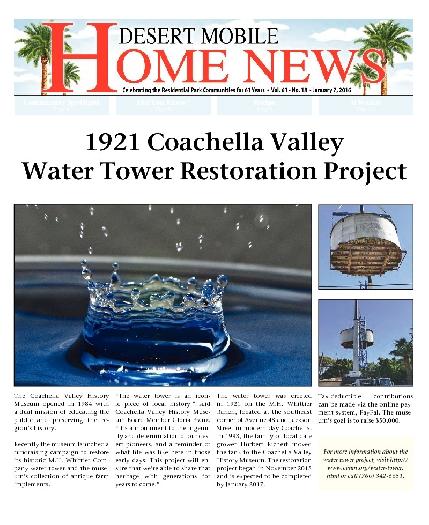 January 7, 2016 Desert Mobile Home News