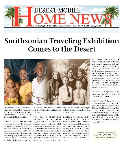 January 14, 2016 Desert Mobile Home News